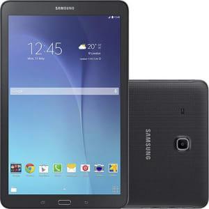 """Tablet Samsung Galaxy Tab E T561M 8GB Wi-Fi 3G Tela 9.6"""" Android 4.4 Quad-Core - Preto"""