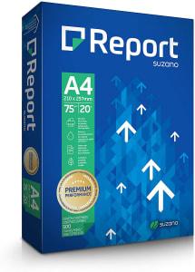 Papel Sulfite Report A4 75g Branco Pacote com 500 Folhas