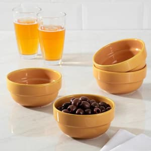 Conjunto de Tigelas em Cerâmica Refratária 4 Peças 14 cm Amarela - La Cuisine