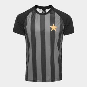 Camisa Botafogo Estrela Gold nº 7 - Edição Limitada Masculina - Preto