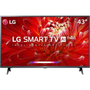 Smart TV Led 43'' LG 43LM6300 FHD Thinq AI Conversor Digital Integrado 3 HDMI 2 USB Wi-Fi com Inteligência Artificial