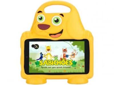 "Tablet DL Drop Kids Plus 8GB 7"" Wi-Fi Android - Proc. Quad Core Câmera Integrada - Magazine Ofertaesperta"
