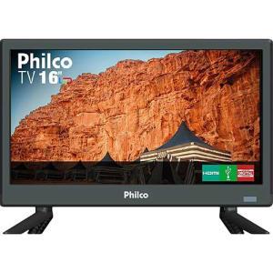 """TV LED 16"""" Philco HD PTV16S86D com Conversor Digital 2 HDMI 1 USB 60Hz"""