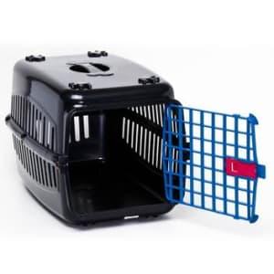Caixa De Transporte Cachorro Gatos Preta Porta Azul N2 - Rb - Magazine Ofertaesperta