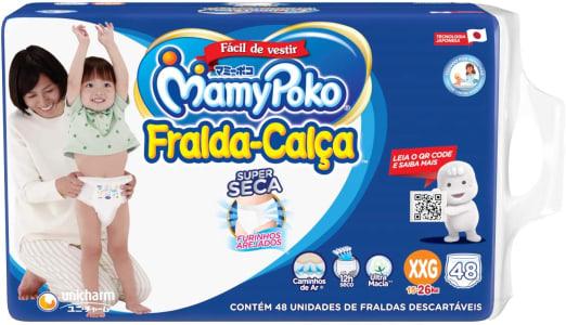 3 Pacotes de Fralda-Calça MamyPoko Tamanho XXG 48 unidades cada