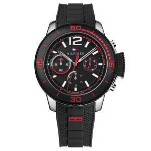 Relógio Tommy Hilfiger Masculino Borracha Preta - 1791320