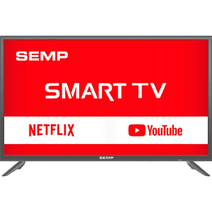 "Smart TV LED 39"" Semp L39S3900FS Full HD com Conversor Digital 2 HDMI 1 USB Wi-Fi Closed Caption - Grafite"