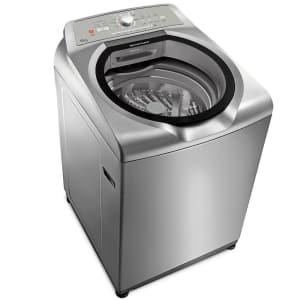 Máquina de Lavar Brastemp 15kg cor Inox com Ciclo Edredom Especial e Enxágue Anti-Alérgico - BWN15AK