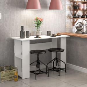 Mesa de Cozinha Lapa com 4 Nichos nas Laterais - Branco