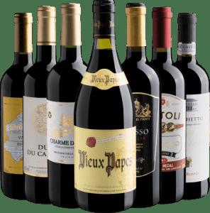 Kit com 7 Garrafas de Vinhos Europeus