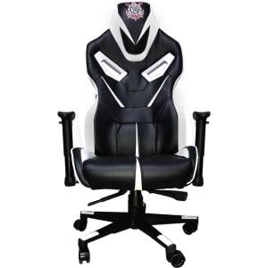 Cadeira Gamer Mymax Corinthians Giratória Preta/Branca