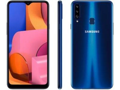 Smartphone Samsung Galaxy A20s 32GB Azul 4G - Octa-Core 3GB RAM Câm. Tripla + Câm. Selfie 8MP - Magazine Ofertaesperta