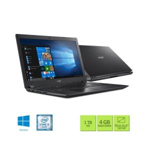 "Notebook Acer Intel Core i3-7020U 4GB 1TB Tela 15,6"" Windows 10 A315-53-32U4"