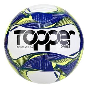 Bola de Futebol Society Topper Drible Tecnofusion - Amarelo e Azul