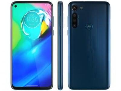 """[Preto ou azul] Smartphone Motorola Moto G8 Power 64GB Azul - Atlântico 4G 4GB RAM Tela 6,4"""" Câm. Quádrupla - Magazine Ofertaesperta"""