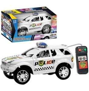 Carro Polícia Com Controle Remoto A Pilha Preto Branco