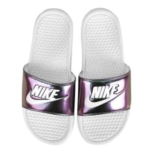 Sandália Nike Benassi Jdi Print Feminina - Branco