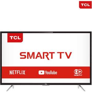 Smart TV LED 43'' Semp Toshiba TCL 43S4900 Full HD com Conversor Digital 3 HDMI 2 USB Wi-Fi 60Hz Preta