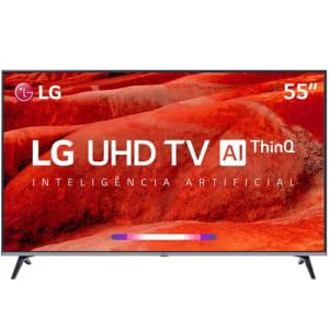 "Smart TV LED 55"" LG 55UM7520 Ultra HD 4K Thinq AI Conversor Digital 4 HDMI 2 USB Wi-Fi"