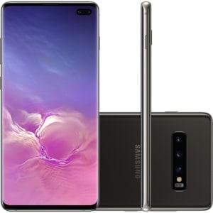 """Smartphone Samsung Galaxy S10+ 1TB Dual Chip Android 9.0 Tela 6,4"""" Octa-Core 4G Câmera Tripla Traseira 12MP + 12MP + 16MP - Ceramic Preto"""