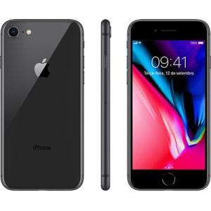 "iPhone 8 Cinza Espacial 256GB Tela 4.7"" IOS 11 4G Wi-Fi Câmera 12MP - Apple"