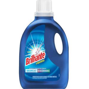 Detergente Líquido Brilhante Roupas Brancas e Coloridas 3l