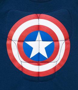 Oferta ➤ Camiseta Fantasia Infantil Capitão América Avengers – Tam 4 a 10   . Veja essa promoção