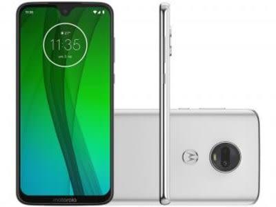 "Smartphone Motorola G7 64GB Polar 4G - 4GB RAM Tela 6,24"" Câm. Dupla + Câm. Selfie 8MP - Magazine Ofertaesperta"