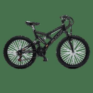Bicicleta Dupla Suspensão Aro 26 Colli Preto - Quadro 26`` Freio V-Brak