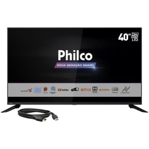 Smart TV LED 40'' Philco PTV40G60SNBL FHD com Tela Infinita Audio Dolby