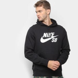 Moletom Nike Icon Pullover Capuz Masculino - Preto e Branco