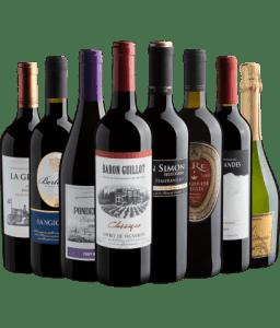 Kit 8 Vinhos por R$29,90 cada garrafa
