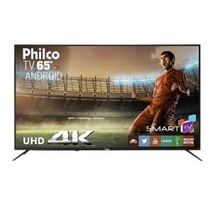 """Smart TV LED 65"""" Philco PTV65A11DSGWA Ultra HD 4K com 3 HDMI e 2 USB Preta com Conversor Digital Integrado"""