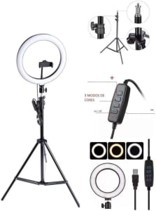 Confira ➤ Kit Completo Ring Light Com Tripé Dimmer Youtuber Selfie Pro ❤️ Preço em Promoção ou Cupom Promocional de Desconto da Oferta Pode Expirar No Site Oficial ⭐ Comprar Barato é Aqui!