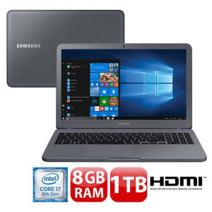 "Notebook Samsung Core i7-8550U 8GB 1TB Placa de Vídeo 2GB Tela Full HD 15.6"" Windows 10 Expert X50 NP350XAA-XF3BR"