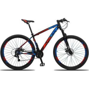 Bicicleta Dropp Z3 Aro 29 Câmbios Shimano Freio a Disco e Suspensão - Vermelho+Azul