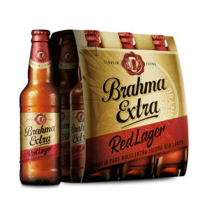 Cerveja Brahma Extra Red Lager 355ml Caixa com 06 unidades