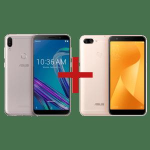 Zenfone Max Pro (M1) 3GB/32GB Prata + Zenfone Max Plus (M1) 3GB/32GB Dourado