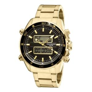 Relógio Technos Masculino Dourado Anadigi 0527AE/4P