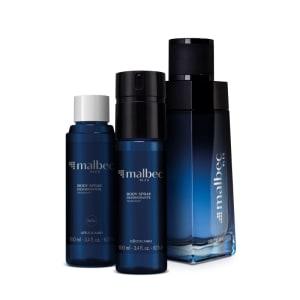 Combo Malbec Bleu: Desodorante Colônia 100ml + Body Spray 100ml + Refil 100ml - O Boticário