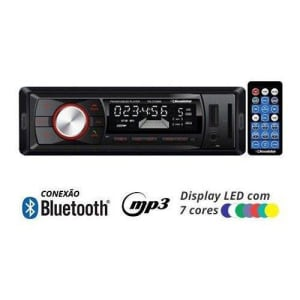 Rádio Mp3 Player Automotivo Bluetooth Roadstar RS-2709BR Fm USB Controle