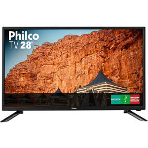 "TV LED 28"" Philco PH28N91D HD com Conversor Digital 1 USB 1 HDMI - Preta"