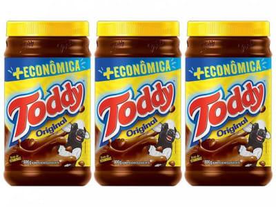 Kit Achocolatado em Pó Chocolate Toddy Original - 800g 3 Unidades - Magazine Ofertaesperta