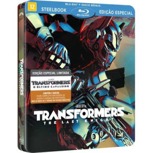 Transformers The Last Knight (Filme + Disco Bônus) - Steelbook ( Blu-Ray Duplo 2d) (DVD)