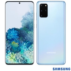 """Samsung Galaxy S20+ Azul, com Tela Infinita de 6,7"""", 4G, 128GB e Câmera Quádrupla 64MP+12MP+12MP+ToF - SM-G985FLBJZTO"""