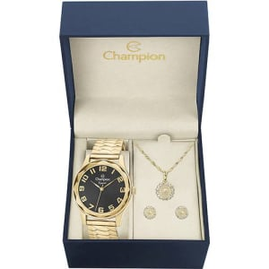 Relógio Feminino Champion Analógico Fashion CN27885E + Colar e Brinco