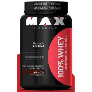 Oferta ➤ 3 Unidades – 100% Whey Protein Max Titanium 900 g   . Veja essa promoção