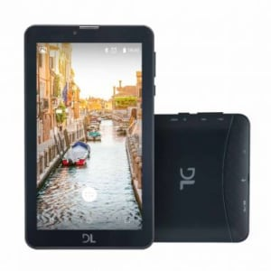 """Tablet DL Mobi Tab com Função Celular Preto, Tela de 7"""", Processador Quad Core, 8GB de memória, Android 7.0, 3G, Dual Chip e Bluetooth - TX384PRE"""