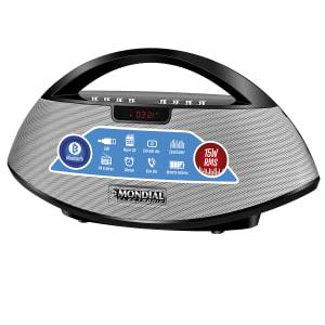 Oferta ➤ Som Portátil Mondial SK01 Rádio FM, USB, Auxiliar, Micro SD, Bluetooth 15W Bivolt Preto   . Veja essa promoção