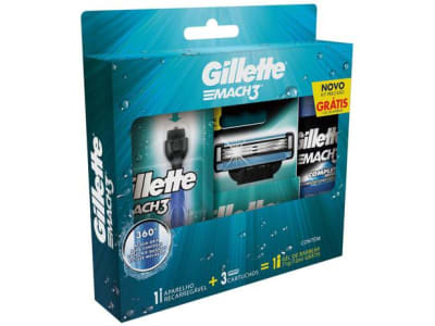 Confira ➤ Kit de Barbear Gillette – Mach3 Aqua-Grip – Magazine ❤️ Preço em Promoção ou Cupom Promocional de Desconto da Oferta Pode Expirar No Site Oficial ⭐ Comprar Barato é Aqui!